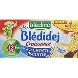 Blédina Blédidej Choco Biscuitée Croissance dès 12 Mois 4 Briques de 25 cl