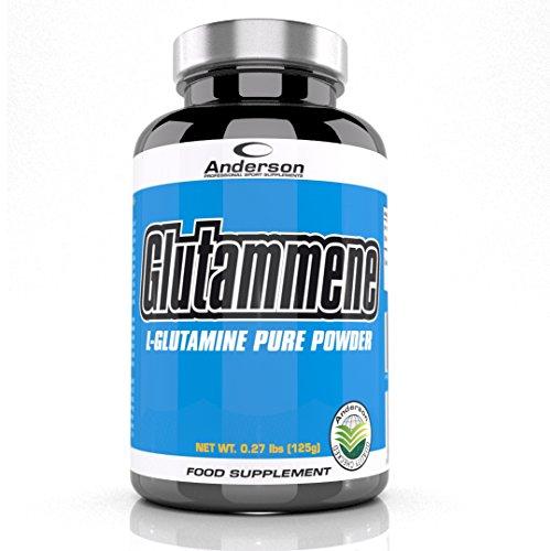 Integratore Anderson Glutammene in polvere 125 g L-Glutammina pura 100%