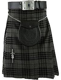 Kilt écossaises traditionnelles Robe Highland Gris