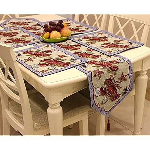 American tavolo rustico runner placemats pastorale europea coasters tovaglia tovaglia Decorazioni di Natale Halloween-YU&XIN