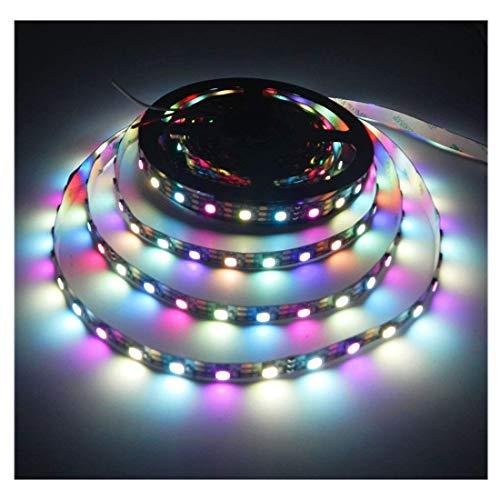 Dreamcolor 16.4Ft/5M SK6812 IC (aktualisiert von WS2812B) 300 Pixel 5050 RGB + Weiß Individuell Adressierbar LED Streifen Licht, 60Leds / M DC 5V RGBW LED-Bandlicht Nicht-wasserdicht Pixel-10 Einheiten
