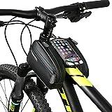 DCCN Fahrrad Rahmentasche Wassdichte Oberrohrtasche Handy Tasche für Mountain Bike