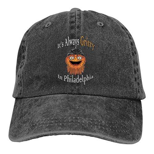 Its Always Gritty in Philadelphia Washed Denim Hat Unisex Dad Baseball Caps Bio Washed Cap