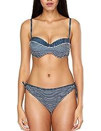 9b956ccd70d CharmLeaks Women Underwire Bandeau Bikini Set Sexy Padded Two Piece  Swimwear Swimsuit