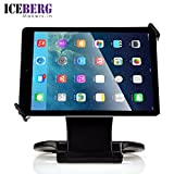 Iceberg Makers.in 360-Degree Rotating Swivel & Folding Style Desktop Stand Holder for ipad/mini/air Series & most 7-10inch Tablets-Black