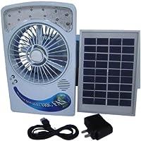 Energia solare pannello Scrivania tipo USB ricarica ventilatore con lampada di protezione degli occhi