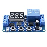 DC 12V Infinite Cycle Delay Circuit Timer Control Relais auf Ausschalter Loop Modul Hausautomation mit LED-Display