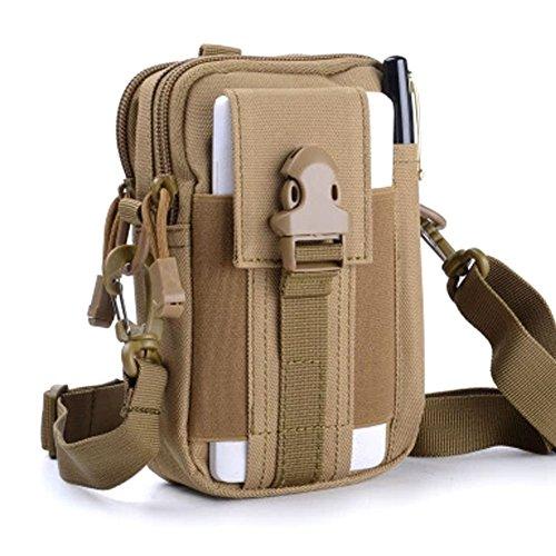 �fttasche Taktische Tasche Tactical Pouch Kompakte Mehrzweck-Dienstprogramm Gadget Tool Gürtel Gürteltasche Pack für Outdoor Wandern Camping Radfahren Angeln täglichen Gebrauch (Khaki) (Soft Side Tool Bag)