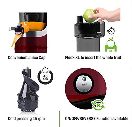 Slow Juicer – VitaSpeed Multifunktions Entsafter Bild 3*