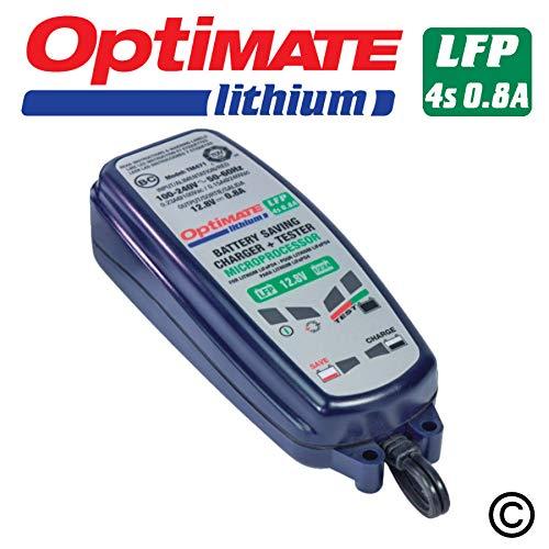 Optimate TM470 Lithium 4S 12,8/13,2V 8-Stufen 0.8Amp Akku-Ladegerät/Testgerät/Wartungsgerät, Blue -