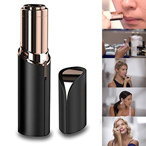 Price comparison product image Women's Hair Remover | Smooth Touch Painless Removal of Hair & Gold Plated Head | Electric Battery Operated Lady / Ladies Shaver | Women's Painless Hair Remover (A)