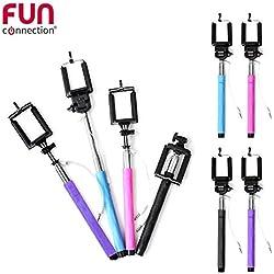 Fun Connection ht1110Asta Selfie con jack 3.5per Smartphone Nero/Viola/Blu/Rosa * colore casuale *