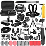 KNOSSOS Sports Action Camera Accessories Set with 360°Rotation Clip Handle Grip