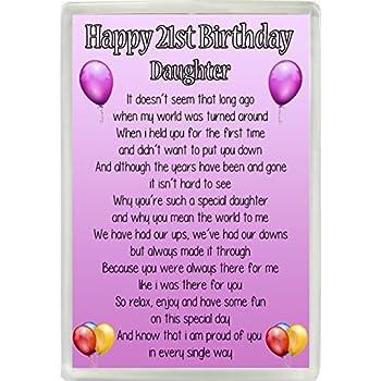 Happy 18th Birthday Daughter Poem Jumbo Fridge Magnet Ideal