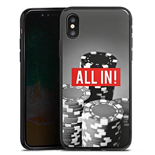 Apple iPhone 5c Silikon Hülle Case Schutzhülle All in Poker Chips Silikon Case schwarz