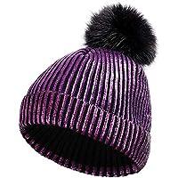 HAOLIEQUAN Cappelli Invernali da Donna per Cappelli da Donna in Maglia  Cappelli da Donna Beanie Hathedging 880af8c85fc4