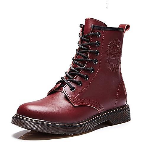 Martin moda botas/Estilo bota de Inglaterra/ primavera botas/ de estudiante mujer botas/ grueso corto botas/Botas de invierno/Zapatos de mujer