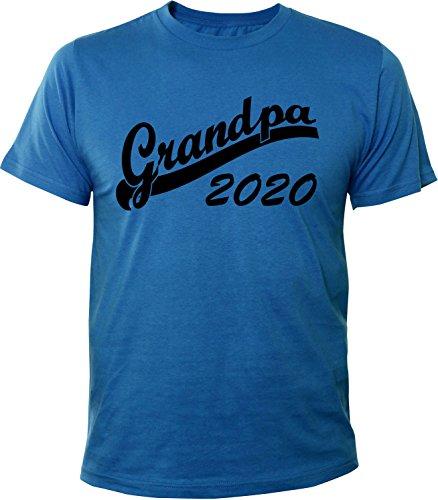 Mister Merchandise Herren Men T-Shirt Grandpa 2020 Tee Shirt bedruckt Royal