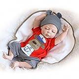 ZIYIUI 18 Pulgadas 45 cm muñecas Reborn Baby Doll Bebe niño Silicona Vinilo Bebe Reborn niño Magnetismo Juguetes Regalos