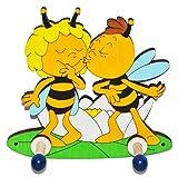 Unbekannt Garderobenhaken - die Biene Maja und Willi gibt einen Kuß - aus Holz - für Kin..