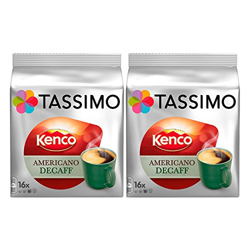 Order Tassimo T Discs Kenco Americano Decaf (2 Pack, 32 T discs/pods), 32 Servings by Jde Coffee