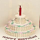 Vdk Typ 1handgefertigt 3D Pop up Geburtstagskarte Kirigami Hohl zusammenklappbar Grußkarte Geburtstag Postkarte mit Umschlag