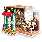 SJHO Bauhaus, 3D Coffee House Miniature Building, Wooden House mit Möbeln und Accessoires-Kreatives Geschenk für Kinder