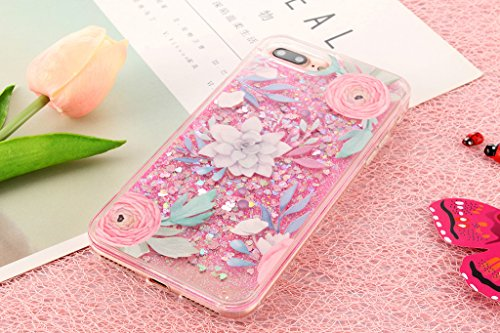 iPhone 6/6S Hülle - 3D Kreatives Design Luxus Shiny Flow Sand Entzückende Fließende Schwimmende Moving Shiny Glitzer Sequins Bling Cute Pattern Shell für iPhone 6/6S - Girl Boss 11-A