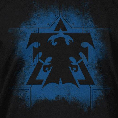 StarCraft II - Terran Plates Logo T-Shirt Herren Gamer Shirt Baumwolle schwarz Schwarz