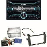 Sony WX-920BT Bluetooth CD USB AUX Autoradio Einbauset für Mercedes A W169 B Klasse W245