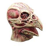 YuStar Masque d'halloween en Latex avec tête d'oiseau et Squelette