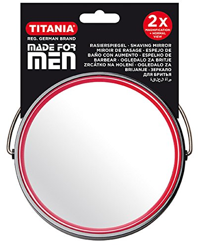 TITANIA Rasierspiegel, Men, Durchmesser 13 cm, schwarz, 1er Pack (1 x 162 g)