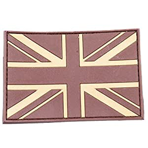 British Union Jack Patch Desert Tan Army Moral Patch