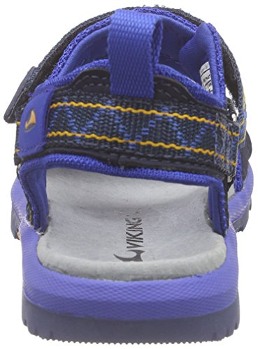 Viking Hvasser, Sandales ouvertes mixte enfant Bleu - Blau (Navy/Sun 572)
