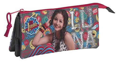 Safta Estuche Escolar Soy Luna «Athletic» Oficial 220x30x100mm