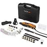 Tacklife Mini amoladora eléctrica Advanced Professional Kit de herramientas rotatorias multifunción con 80 accesorios y 3