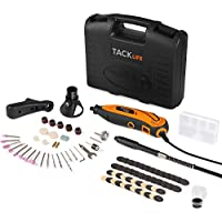 Tacklife 135W Advanced Multi-Functional Rotary Tool Kit with 80 Accessories and 4 Attachments Varible Speed 10000-32000rpm/min Combitool for Craft Projects and DIY Creations