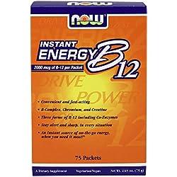 Now Foods | Instant Energy Vitamin B12 | 2000 mcg | 75 Pakete (75g) | Vegan | Vegetarisch | hochdosiert | ohne Gentechnik | Glutenfrei
