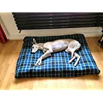 KosiPet Check Fleece Extra Large Rhomboid Memory Foam Pad Deluxe Waterproof Dog Bed