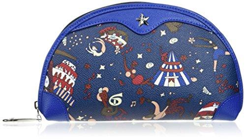 Piero Guidi Damen Cosmetic Case Organizertasche, 20x12x4 cm Blu (Blu di Prussia)
