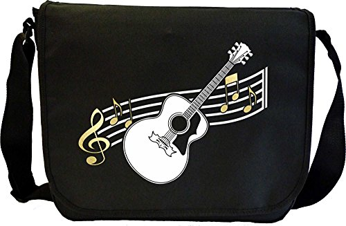 Acoustic Guitar Curved Stave - Sheet Music Document Bag Musik Notentasche MusicaliTee