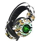 WOFEIYL Kopfhörer Leuchten Computer USB7.1 Bass Spiel Kabel Camouflage