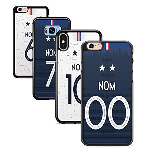 FUNcoque Coque Silicone Bumper Souple IPHONE 7 & 8 - France championne du Monde 2018-2 étoiles - Swag Case TPU Design + Film de Protection Inclus