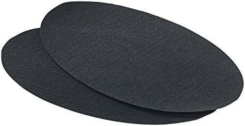 AGT Reparaturflicken: Schnellhaftende Bügelflicken aus Baumwolle, 2 Stück in schwarz (Kleid Hosen Bügeleisen)