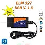 MINI ELM327 OBD2 16 PIN VERSIONE 1.5A STRUMENTO SCANNER PER DIAGNOSI AUTO SCANNER DIAGNOSTICA INTERFACCIA CON CAVO USB