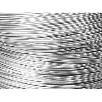 10 Mètres fil aluminium argent 0.8 mm