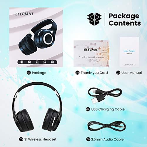 Bluetooth Kopfhörer, ELEGIANT Bluetooth 4.1 Wireless Stereo Headset drahtlose Kopfhörer Ohrhörer On Ear Kopfhörer + Mic/Freisprechfunktion + 3,5mm Audio AUX für Smartphone - 7