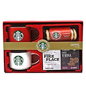 Starbucks Coffee for Two with Mugs and Shortbread Biscuits