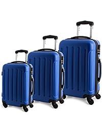 Brubaker Set de bagage, Royal Blau (Bleu) - Leonardo_3erSetTrolley_Blau