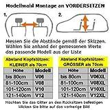OVITAN Hundegitter fürs Auto 4 Streben universal zur Befestigung an den Kopfstützen der Rücksitzbank – für alle Automarken geeignet – Modell: H04 - 5
